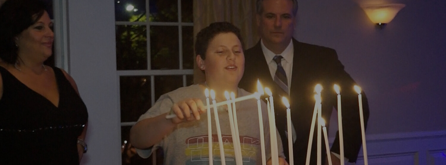 Bar Mitzvah Candle Lighting Ceremony